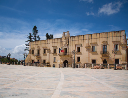 feudalism: an old aristocratic palace in sicily now administration office and museum
