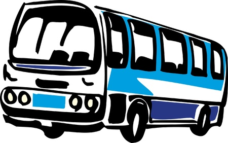 motor coach: Illustration of a bus Illustration
