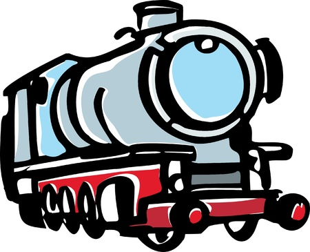 Illustration of steam locomotive Stock Vector - 18085479