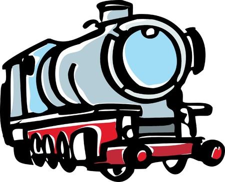 steam locomotive: Illustration of steam locomotive Illustration
