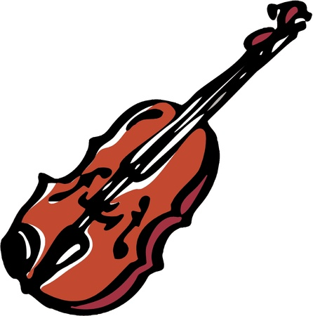 stylized illustration of musical instrument Violin Ilustrace