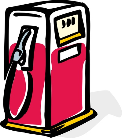 illustration  of stylized gas fuel pump Ilustração