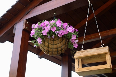 Basket with flower photo
