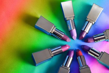 8 lipsticks on the rainbow