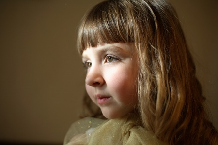 Portrait of the young lady (small depth of sharpness)