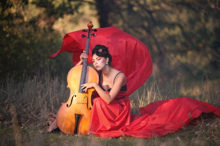 Inspired by the girl playing the cello