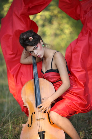 Inspired by the girl playing the cello photo