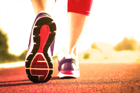 運動鞋跑步特寫