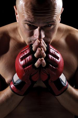 Боец смешанных боевых искусств Фото со стока