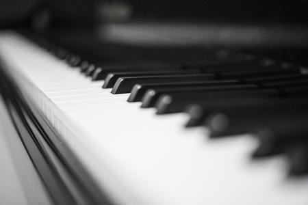 close up: Close up of piano keys Stock Photo