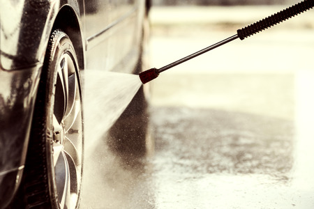 shiny car: Car wash