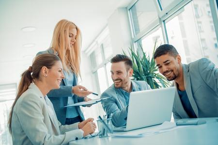 Groep van zakelijke people.Portrait van succesvolle ondernemers team.