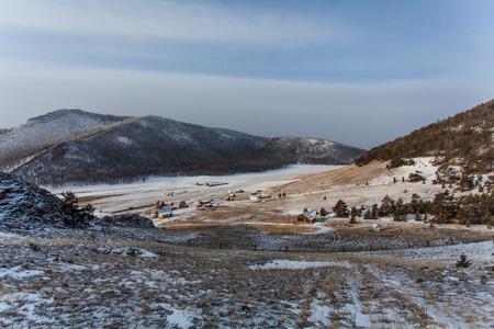 settlement: Uzury settlement. Olkhon island. The Baikal lake