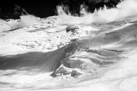 beautyful: Beautyful snow lanscape at the Lenin peak. Pamir mountains. Kyrgyzstan
