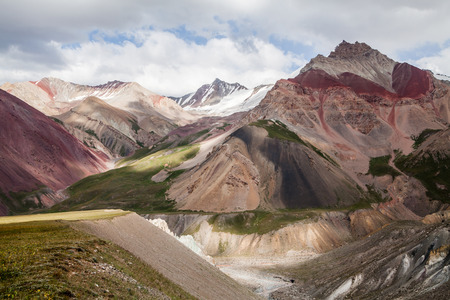 Beautiful view of Pamir mountains near the Lenin peak, Kyrgyzstan Stock Photo - 63601224