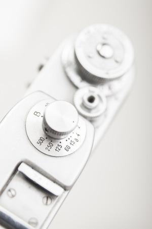 analog camera: Analog camera shutter speed limb. Close-up view of detail