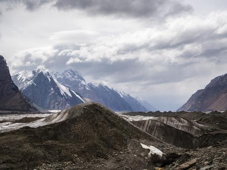 Big glacier in the Tian Shan mountains Reklamní fotografie