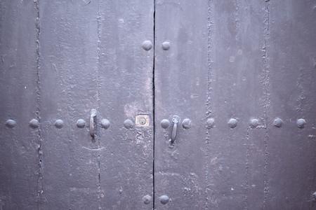 metal door rusty corroded texture background. Stock Photo
