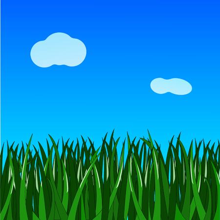 녹색 잔디 그라데이션 파란색 간단한 배경
