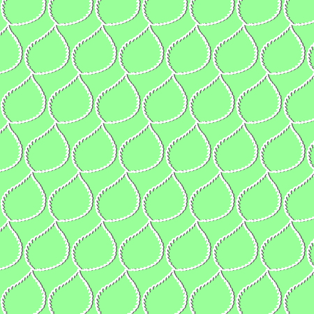 A pattern of white leaves with a shadow on green background Illustration