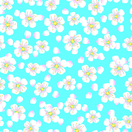 seamless pattern of flowers with apricot petal.