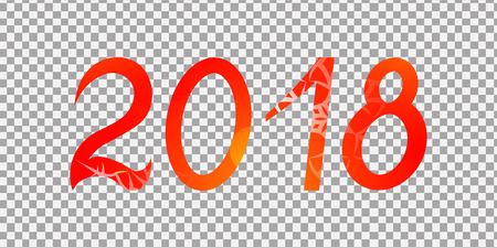 Figures 2018 on a neutral background, new year, isolate, vector design element for new years day, Christmas, winter holiday and new years eve. Illustration