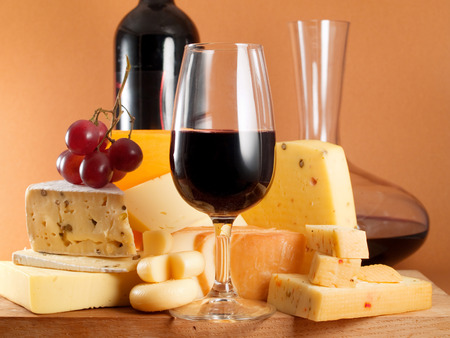 image created 21st century: Cheese and Wine