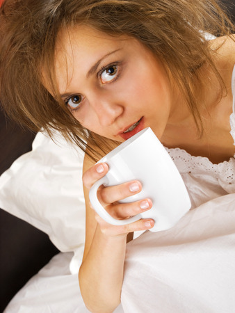 tousled: Coffee in bed