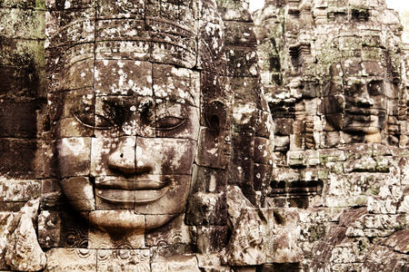 angkor thom: Bayon Temple in Angkor Thom, Angkor district, Siem Reap, Cambodia