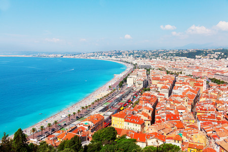 nice france: Nice, French Riviera viewed from the high Castle Hill