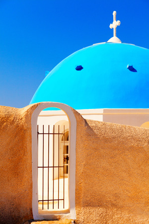 fira: Famous church in Fira, Santorini Stock Photo