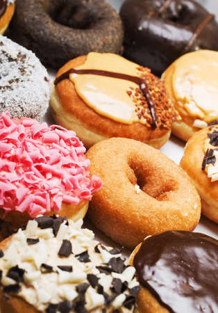 upperdeck view: Donuts Stock Photo