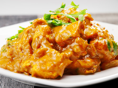 curry: Chicken tikka masala - indian meal