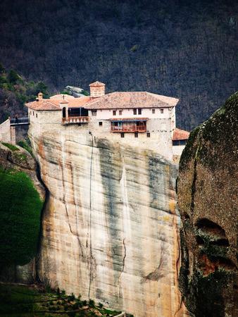 monasteri: Meteora Clifftop Monasteri in Grecia, uno dei pi� importanti complessi di monasteri ortodossi orientali. E 'vicino al piccolo paese di Kalambaka.