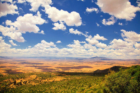 Great Rift Valley with cloudy sky, Kenya