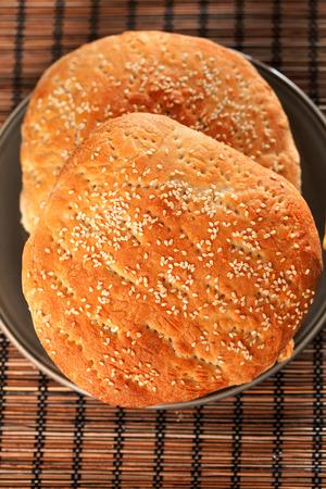 moroccan cuisine: Marokan bread with sesame Stock Photo