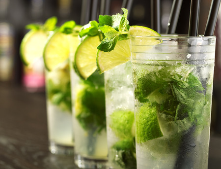 cocktails: Mojito cocktails Stock Photo