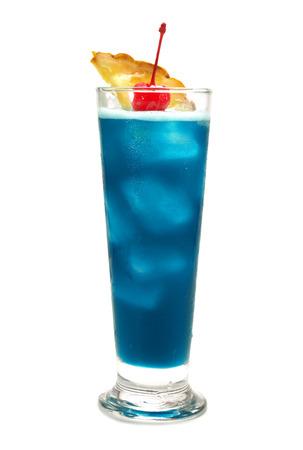 blue hawaiian drink: Blue hawaiian cocktail Stock Photo