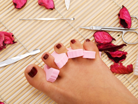 manicure and pedicure: Pedicure Stock Photo