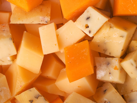 Cheese cubes Banque d'images