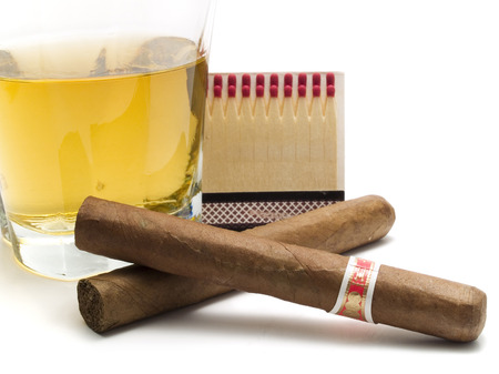 cigars: Whiskey with cigars