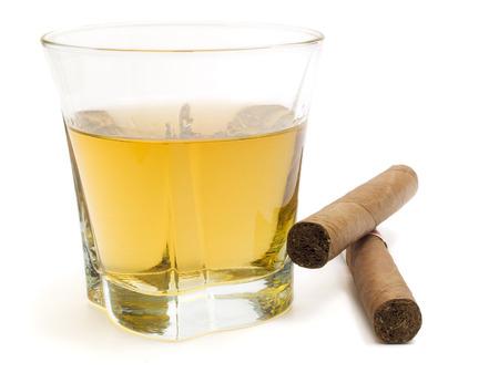 Cigar and whiskey photo