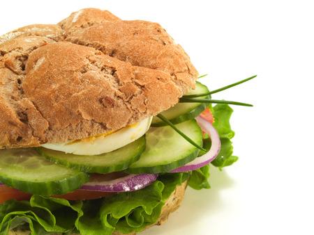 sandwich white background: Vegetarian Sandwich