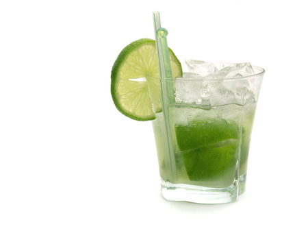 Caipirinha cocktail Stock Photo