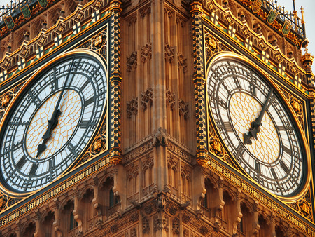 Close up of Big Ben in London photo