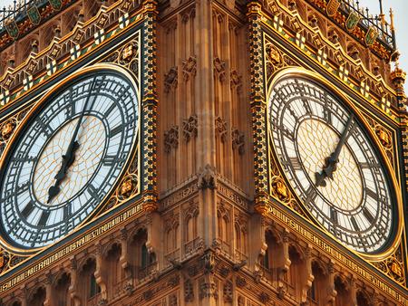 GRANDE: Primer plano de Big Ben en Londres Foto de archivo