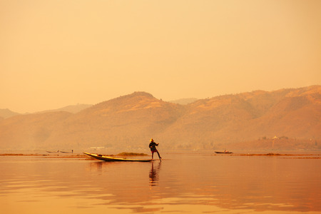 propel: In Inle Lake it is typical to see intha fishermen who propel their crafts by leg rowing, a technique believed to date back to the 12th century.