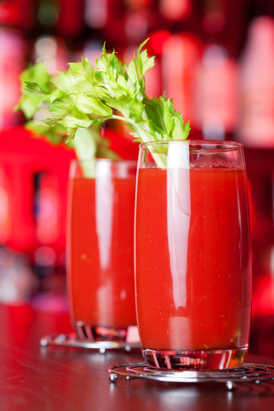Bloody Mary is a popular cocktail containing vodka. Stock fotó