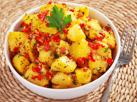 cilantro: Potatos with sesame and cilantro