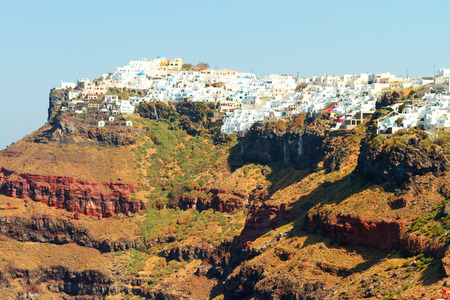 firostefani: Imerovigli viewed from Firostefani, on Santorini Island